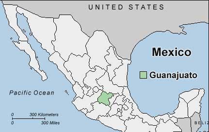 Mexico Map Guanajuato.Guanajuato Mexico Map Cvln Rp