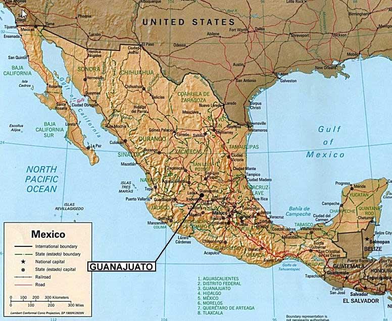 Mexico Map Guanajuato.Casa Dionisio Guanajuato Mexico